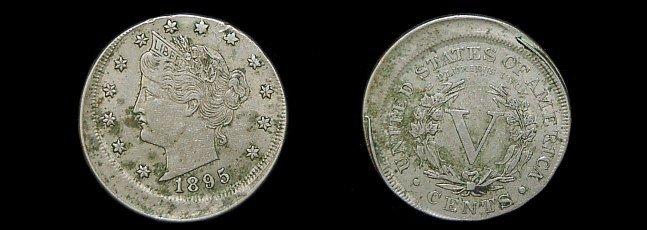 1A: 1895 Liberty V nickel