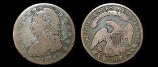 1836 capped bust half dollar