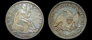 1846 Seated Liberty half dollar VF-XF