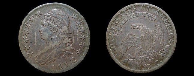 11: 1812 capped bust half dollar