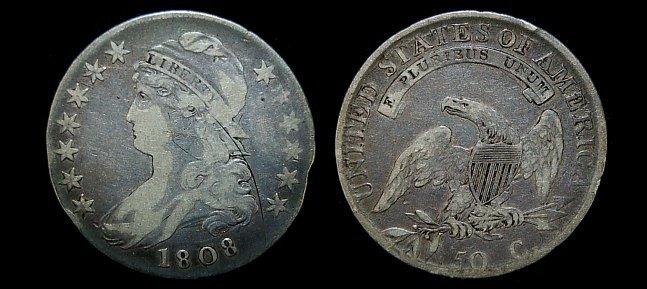 14: 1808 capped bust half dollar