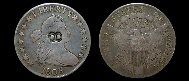 19: 1806 draped bust half dollar