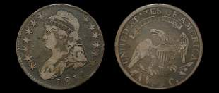 1812 capped bust half dollar