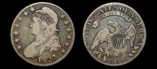 1827 US capped bust half dollar