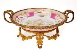 167A Sevres handpainted porcelain center bowl