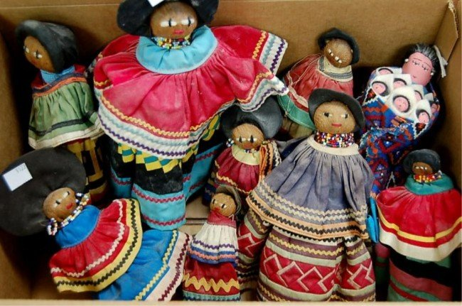 4: 10 hand made South American dolls