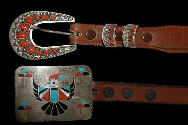 11: Pair of Native American belts