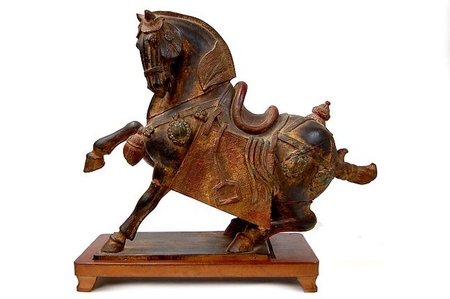 140: Tang Dynasty carved wooden horse