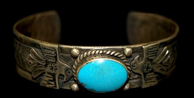 7: old pawn Navajo sterling cuff