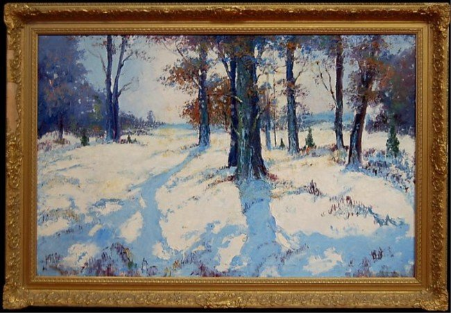 24: Winter landscape original oil