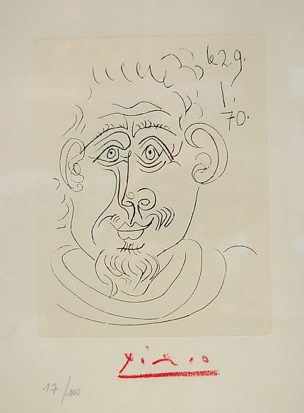 75: Picasso etching