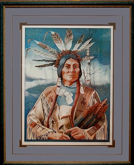 7: J. Andrews Lim. Ed. print of an Indian Chief
