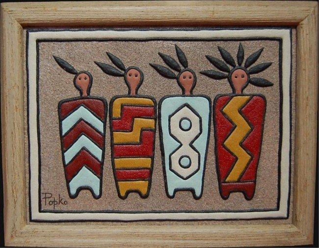 30: Popko original sand painting