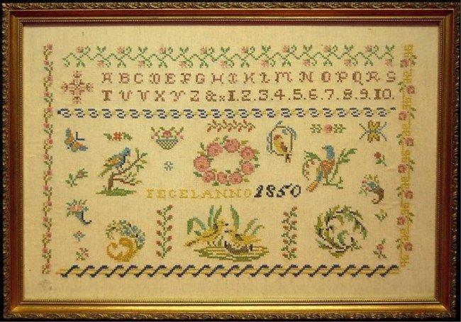 37: American 1850 sampler