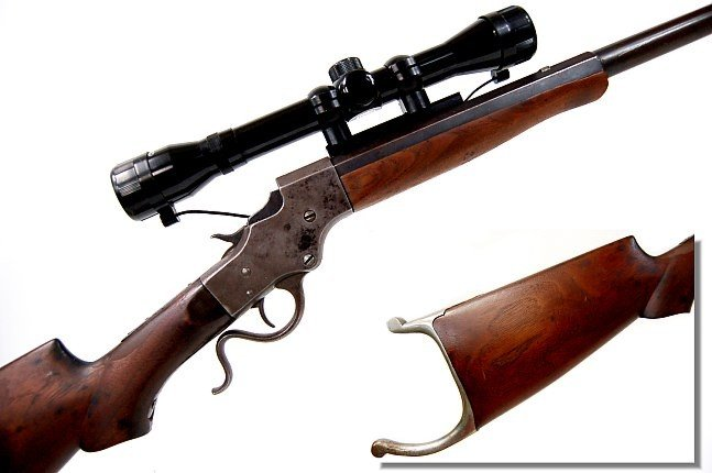 42: Stevens scoped model 44 falling block 25-20 cal.