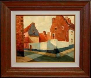 153: Diego Rivera original oil painting on board