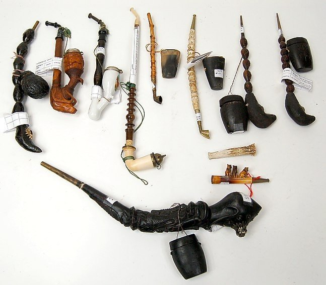 2: Lot of 11 assorted pipes