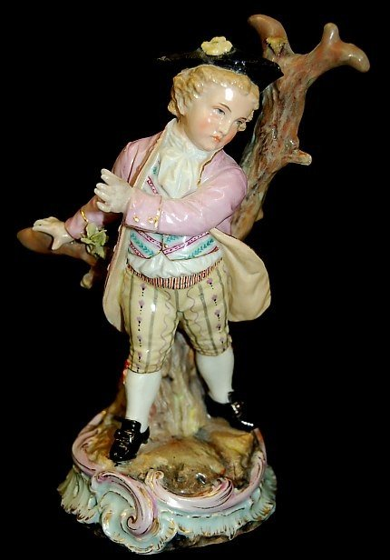 "10: Antique German porcelain 5.75"" figurine"