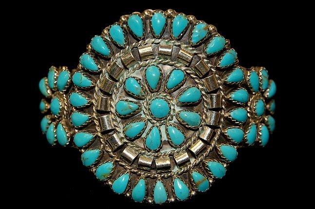 5: Vintage Navajo sterling petit point cuff