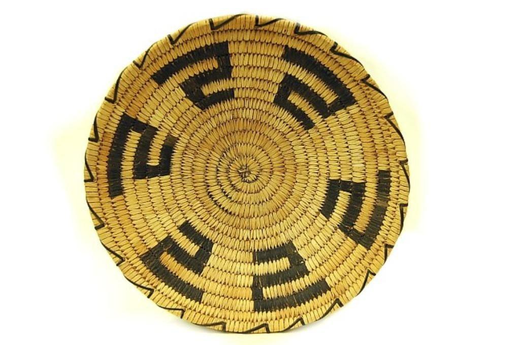 8: Vintage Pima woven coil basket c.1930