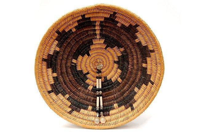 10: Vintage Navajo ceremonial wedding basket c.1940