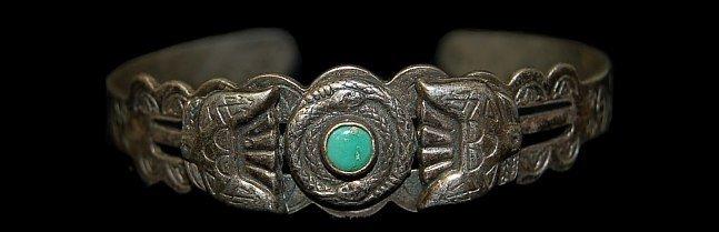 17: Vintage Fred Harvey sterling bracelet c.1930