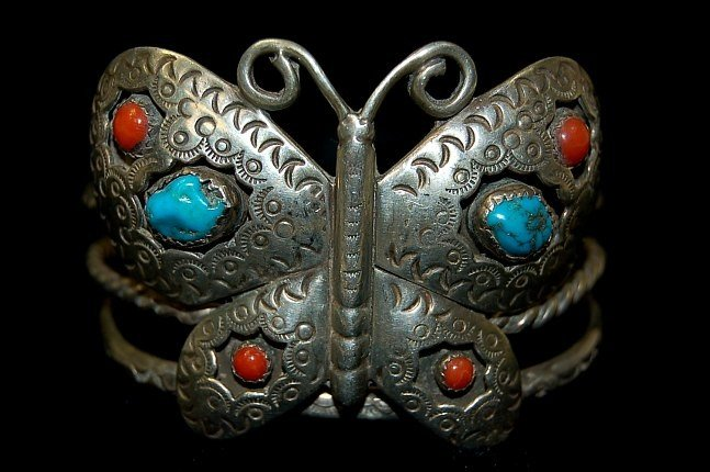 18: Navajo sterling butterfly cuff