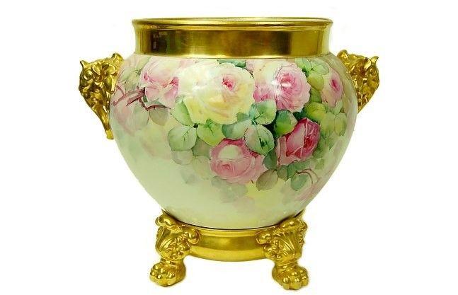 144: Limoges J. Pouyat centerpiece bowl