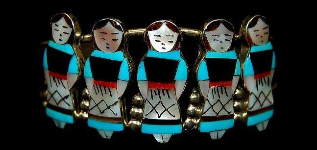3: Theresa Waseth (Zuni) 5 maidens cuff