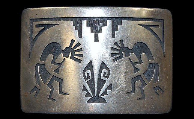 4: Hopi sterling Kokopelli belt buckle