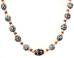Egyptian Islamic period mosaic bead necklace