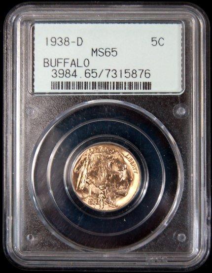 11: 1938-D buffalo nickel MS 65