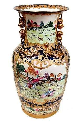 Vintage Chinese porcelain hand painted vase