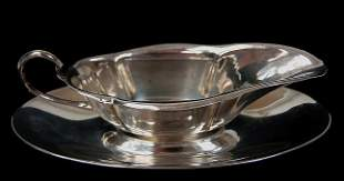 Sterling gravy boat and underplate