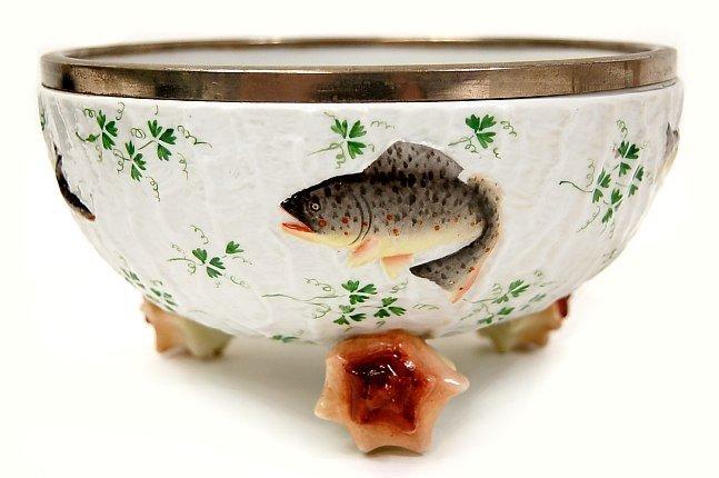 22: WMF porcelain game fish center bowl