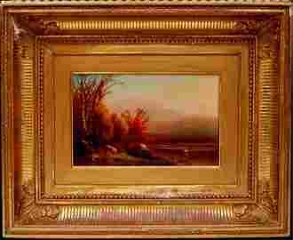 119: William Hart Hudson River, oil on canvas