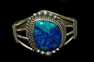 Navajo sterling azurite lady's cuff