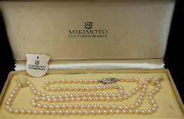 """79: Mikimoto 34"""" cultured pearl strand"""