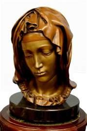 126: Bronze bust of Michelangelo's Madonna della Piet�