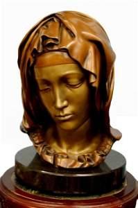 126: Bronze bust of Michelangelo's Madonna della Pietà