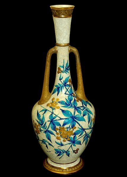 "13: Royal Worcester 12.5"" double handle vase"