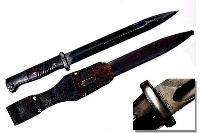 23: WWII German K98 Durkopp Mauser bayonet