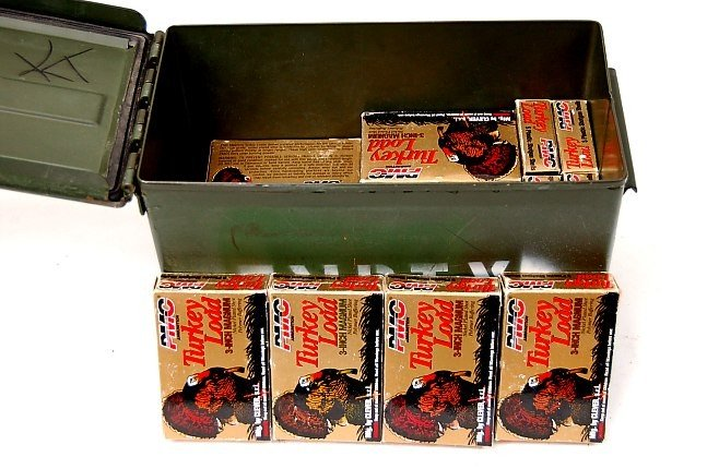 "37C: 22 boxes PMC Turkey load 12 ga. 3"" magnum shells"
