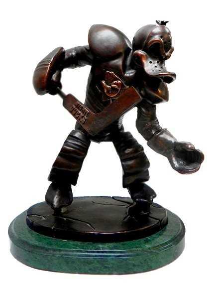 5 Landis Bronze Sculpture Of The Mighty Ducks