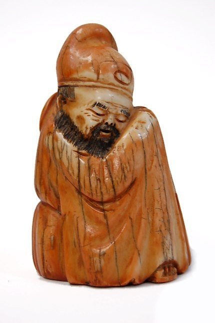 13: Chinese carved mammoth ivory figure