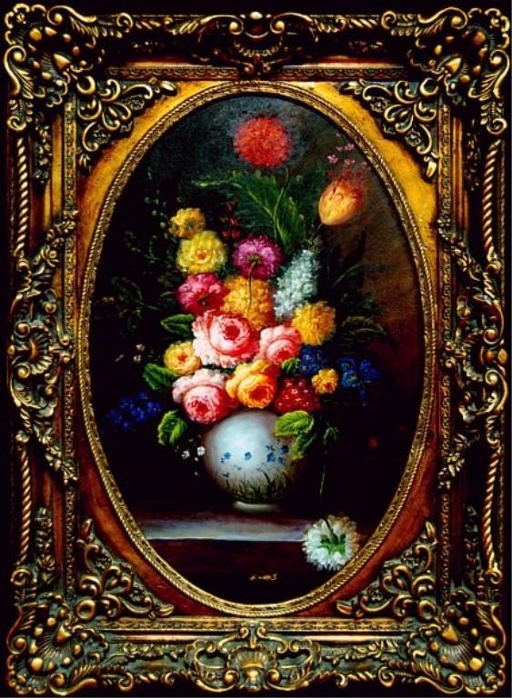 12: Magnificent still life on canvas