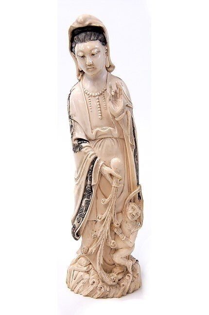 73: Chinese carved ivory Quan Yin figure