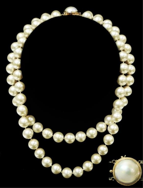 2: Vintage double strand of Majorica pearls
