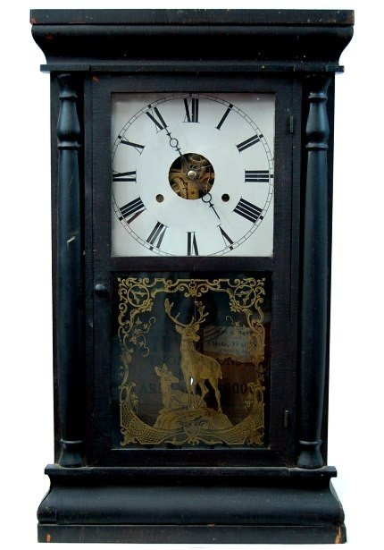 3: 1870's Seth Thomas double weight clock