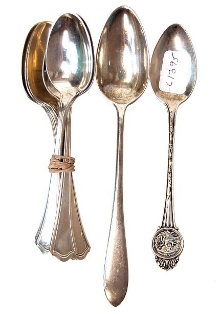 3: 6 Wallace sterling demitass spoons